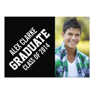 CLASS OF 2014 GRADUATE PARTY PHOTO PERSONALIZED INVITATIONS