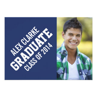 CLASS OF 2014 GRADUATE PARTY PHOTO CUSTOM ANNOUNCEMENTS
