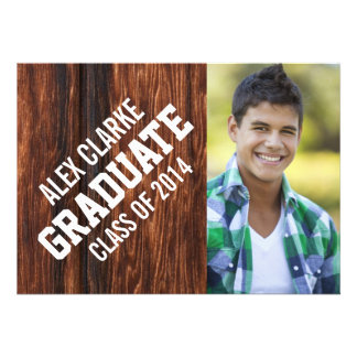 CLASS OF 2014 GRADUATE PARTY PHOTO PERSONALIZED ANNOUNCEMENT