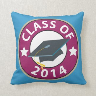 Class of 2014 Graduation Cap Throw Pillows