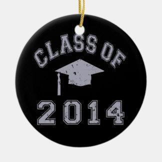 Class Of 2014 Graduation - Grey Ceramic Ornament