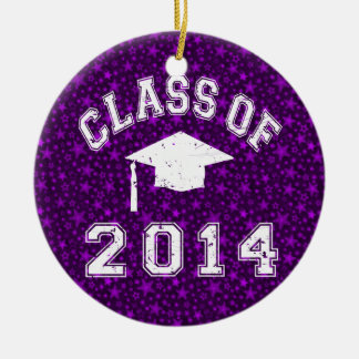 Class Of 2014 Graduation Double-Sided Ceramic Round Christmas Ornament