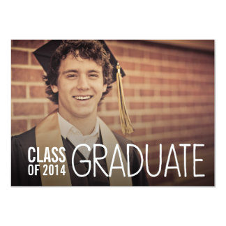CLASS OF 2014 GRADUATION PARTY PHOTO INVITE