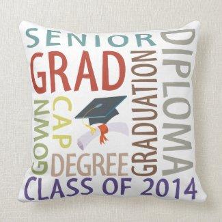 Class of 2014 Graduation Throw Pillows