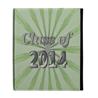 Class of 2014 Green and Silver iPad Folio Case