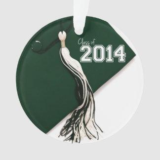 Class of 2014 Green Graduation Cap Ornament