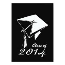 artsprojekt, grad, graduation, class of 2014, mortarboard, graduate, save the date, Convite com design gráfico personalizado