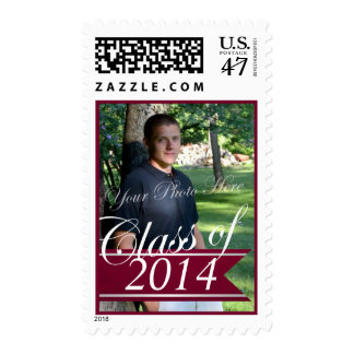 Class of 2014 Maroon Banner with Photo Stamp