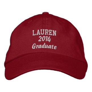 Class of 2014 New Grad or Any Year Custom Red Baseball Cap