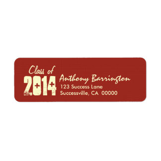 Class of 2014 or Any Year Graduation Simple Color Label