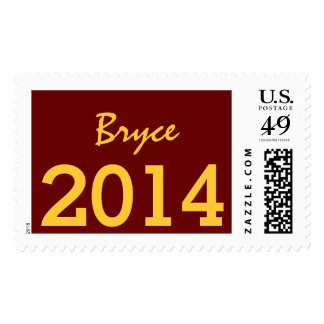 Class of 2014 or Any Year Maroon and Gold V07 Postage