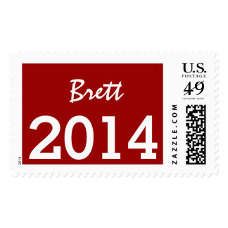 Class of 2014 or Any Year Red and White V05 Postage Stamp
