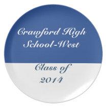Class of 2014 Plate Blue Gold