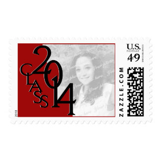 Class of 2014 Red Grad Photo Postage Stamp