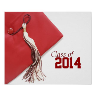 Class of 2014 Red Graduation Poster