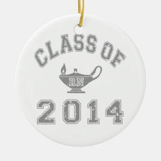 Class Of 2014 RN - Grey 2 Ceramic Ornament