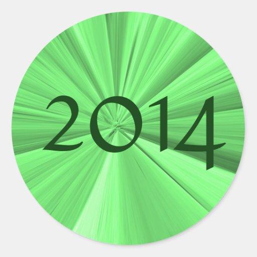 Class of 2014 Round Stickers by Janz