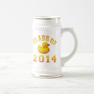 Class Of 2014 Rubber Duckie - Orange Beer Stein