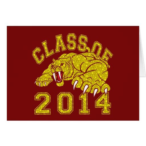 Class Of 2014 Saber-Tooth Tiger Greeting Card