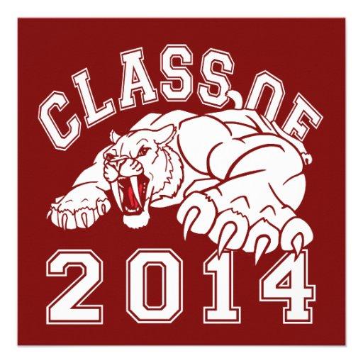 Class Of 2014 Saber-Tooth Tiger Custom Invitation