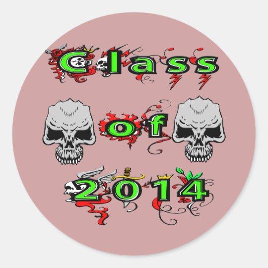 Class of 2014 - Skulls Classic Round Sticker