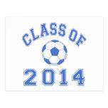 Class Of 2014 Soccer - Blue 2 Postcards