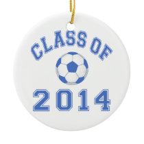 Class Of 2014 Soccer - Blue Ceramic Ornament