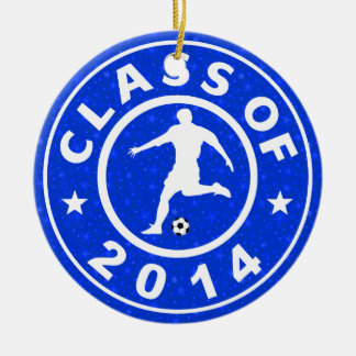 Class Of 2014 Soccer Ceramic Ornament