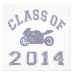 Class Of 2014 Superbike - Grey 2 Personalized Announcements