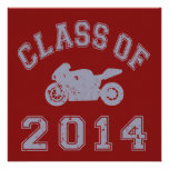 Class Of 2014 Superbike - Grey 2 Personalized Invitations