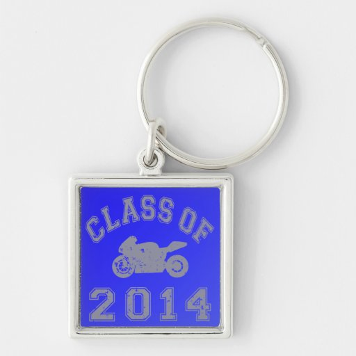 Class Of 2014 Superbike - Grey 2 Key Chains