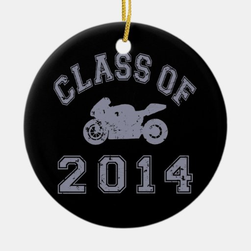 Class Of 2014 Superbike - Grey 2 Christmas Tree Ornament
