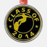 Class Of 2014 Surfing Christmas Tree Ornament