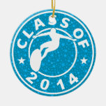 Class Of 2014 Surfing Ornaments