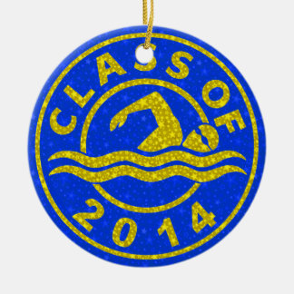 Class Of 2014 Swimming Ceramic Ornament