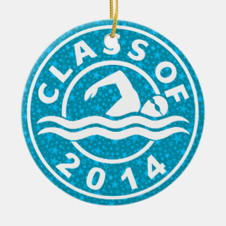 Class Of 2014 Swimming Ceramic Ornament
