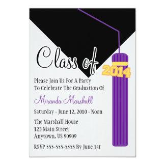Class Of 2014 Tassel Graduation Invite (Purple)
