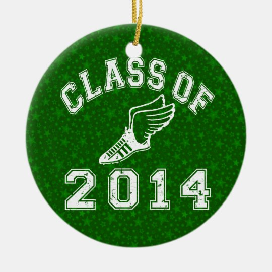 Class Of 2014 Track and Field Ceramic Ornament