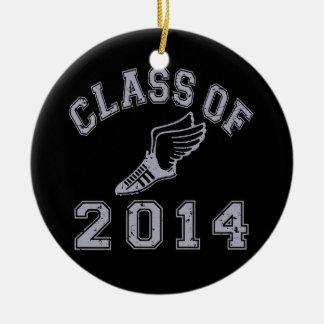 Class Of 2014 Track & Field - Grey 2 Ceramic Ornament