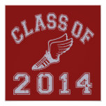 Class Of 2014 Track & Field Grey 2 Personalized Invites