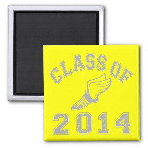Class Of 2014 Track & Field Grey 2 Refrigerator Magnets