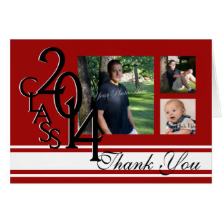 Class of 2014 Varsity Stripe Photo Thank You Greeting Card