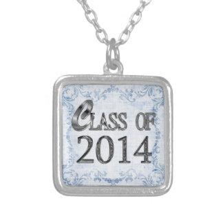 Class Of 2014 Vintage Blue Graduation Necklace