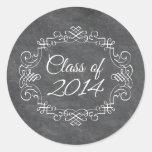 Class of 2014 vintage swirl chalkboard graduation sticker