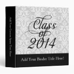 Class of 2014 Wispy Swirl Graduation Vinyl Binders