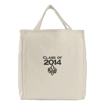 Beach Themed Class of 2014 & Your Initials Embroidered Bag