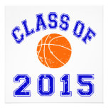 Class Of 2015 basketball - Blue 2 Personalized Invite