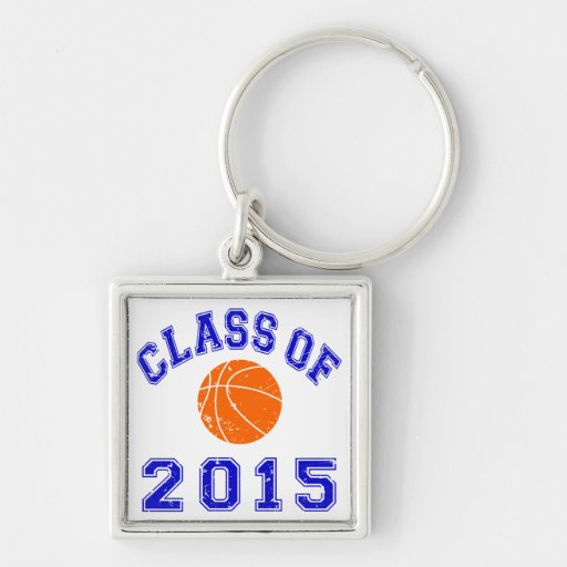 Class Of 2015 basketball - Blue 2 Keychains