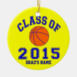 Class Of 2015 Basketball Christmas Tree Ornaments