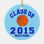 Class Of 2015 Basketball Ornaments